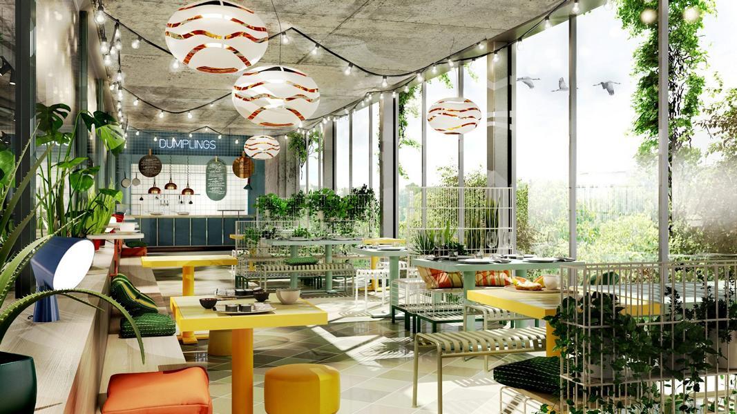 Studio Aisslinger übernimmt Die Gestaltung Für Den Neuen Foodmarket Kantini  Im BIKINI BERLIN